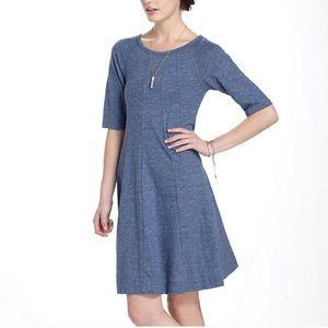 Anthropologie Ganni Fit Flare Winter Jersey Dress